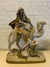 Vtg Large Royal Dux Porcelain Statue Figural Group Arab Camel Rider & Servant