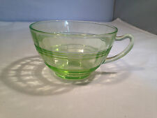 "Depression Glass - ""Circle"" Cups in Green"