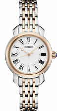Seiko Women's Quartz White Dial Two-Tone Steel Bracelet Watch SUR628