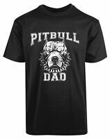 Pitbull Dad New Men's Shirt Dog Pet Lover Fathers Day Funny Humor Super Hero Tee