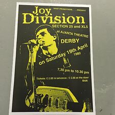 JOY DIVISION - CONCERT POSTER  AJANTA THEATRE DERBY 19TH APRIL 1980  (A3 SIZE)