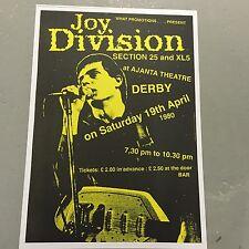 JOY DIVISION - CONCERT POSTER  AJANTA THEATRE DERBY 19TH APRIL 1980  (A3 SIZE)