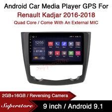 "9"" Android 9.1 Car Stereo Media Player GPS Head Unit For Renault Kadjar 16-18"