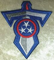 "Tennessee Titans T-Sword 3.5"" Iron On Embroidered Patch ~US Seller~FREE Ship"
