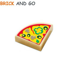 2 x LEGO 29775 Part de Pizza (beige tan) Quarter Tile 1x1 Pizza Slice NEUF NEW