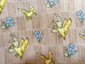 ERMENEGILDO ZEGNA ~MENS SILK DRESS SUIT TIE ~GEESE DUCKS MALLARDS & BLUE FLOWERS
