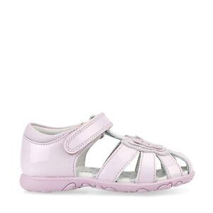 Start-Rite Charm, Pale Lilac Glitter Patent Girls Riptape First Walking Sandals