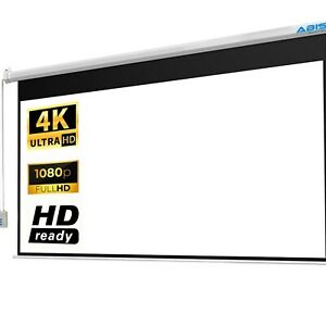 """100"""" Electric 4K 3D Projector Screen 16:9 Aspect for Home & Business With Remote"""