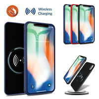 For iPhone X/XR/XS Max Qi Wireless Battery Case Fast Charger Charging Power Bank