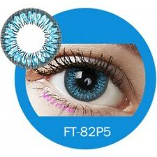 Lentille de couleur bleu 2 tons FT82P5 - blue color contact lenses