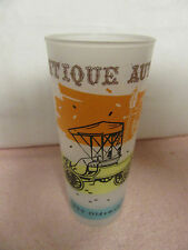 "Vintage ""1900 Oldsmobile"" Frosted Drinking Glasses - Antique Autos - 6.5"" Tall"