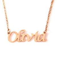 ANY Name Necklace - Yellow Gold, Rose Gold or Silver Toned - Personalised Gifts