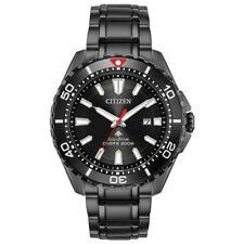New Citizen Eco-Drive Men's Promaster Black PVD Steel Dive Watch BN0195-54E