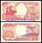 INDONESIA 100 Rupias 1992 1999 Pick 127 g SC / UNC