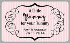 YUMMY FOR YOUR TUMMY CANDY STRIPE LABELS WEDDING STICKERS SWEET CART RETRO JARS