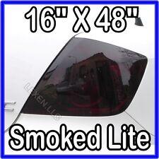 """16"""" X 48"""" DARK SMOKE ORIGINAL PVC FILM TAILLIGHT COVERS SMOKED TINT OVERLAY c"""