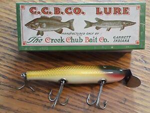 C C B Co Creek Chub Vintage Fishing Lure. NOS #704