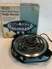 Kitchen Gourmet Electric Buffet Range Single Burner large 1000-Watt heating coil