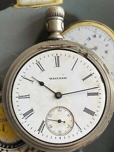 ANTIQUE WALTHAM POCKET Watch SILVEROID Grade TRAVELER Size 16s 7J SERVICED M1899