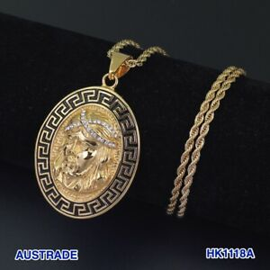 Stainless Steel Jewelry JESUS Pendant Necklace 3mm 60cm Rope Chain