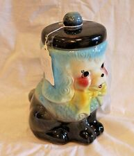 American Bisque BLUE Poodle Cookie Jar 1950's