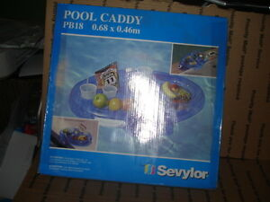 """Sevylor inflatable pool caddy PB18  floatable water NEW air vtg 27"""" by 18"""""""