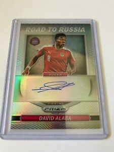 Panini Prizm 2018 World Cup silver auto RR-DAL David Alaba 05/25 Road to Russia