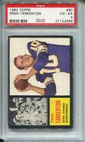 1962 Topps Football #90 Fran Tarkenton Rookie Card RC Graded PSA 4 Vikings