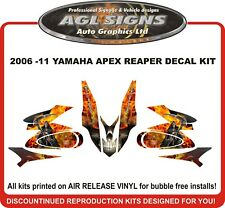 YAMAHA APEX  REAPER SLED WRAP  DECAL 2006 2007 2008 2009 2010 2011