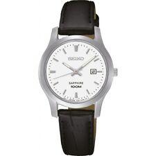 Reloj de pulsera SEIKO mujer - SXDG65P1 (Cuero negro - Acero - Estanco 100 m)