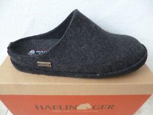 Haflinger Men's Slippers House Shoes Mules Graphite Grey New