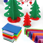 10 pcs Mix Color Squares Non Woven Felt Fabric Sheets For Kid DIY Craft Supplies