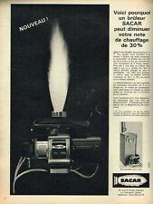 G- Publicité Advertising 1965 Bruleurs de chaudière Sacar