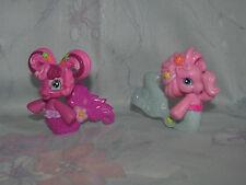 MLP Ponyville Lot 2 Mermaids - Cheerilee, Pinkie Pie - Cake Toppers - Sea Pony