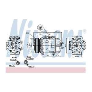 Fits Volvo XC70 MK2 2.0 D3 Genuine OE Quality Nissens A/C Air Con Compressor