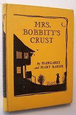 MRS. BOBBITY'S CRUST Margaret & Mary Baker 1937 HC 1st Edit ILLUS Silhouettes G