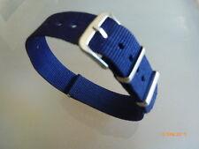 Uhrenarmband Nylon blau 18 mm NATO BAND Dornschließe Textil