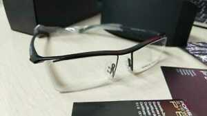 New Porsche P8189 Eyeglasses  Black Spectacle Half Frame with Box