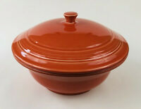 FIESTAWARE Persimmon Round Covered Casserole Baking Dish with Lid Fiesta