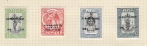 PAPUA (MK7108) # 114-117 VF-MH 1935 KING GEORGE V SILVER JUBILEE SET