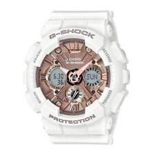 Casio GMAS120MF-7A2 Women's G-Shock Rose Gold Dial World Time Watch