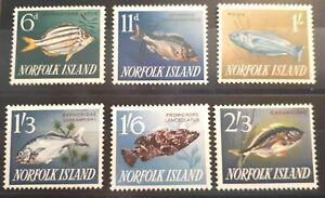 1962/3 Norfolk Island Full Set 6 Stamps - Fish - MNH  c/v £14