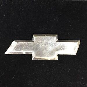 Hand Poured .999 Fine Silver 1.78ozt Chevrolet Bowtie Logo Bar Chevy Car Truck