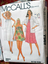 NEW McCalls 7967 Vtg 80s MATERNITY JACKET BATHING Suit Sz PETITE SEWING PATTERN