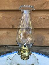 """Antique #0 Pat 1888 P&A Oil Kerosene Lamp Burner Glass Chimney Wick 7/8"""" Thread"""