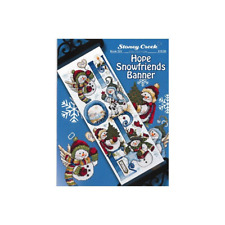STONEY CREEK Cross Stitch Pattern Leaflet HOPE SNOWFRIENDS BANNER Book 522