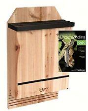 """Nature's Way 3 Chamber Cedar Bat House for 300 Bats, Plus """"Understanding Bats"""""""
