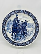 More details for fabulous large delft style charger blue and white 16.5 ins diameter topimpex