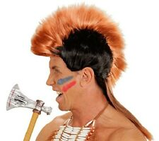 Perruque Rouge Indien Mohawk Mohican robe fantaisie Homme Brave Indien Cowboys robe fantaisie