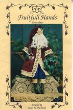 """©1998 UNCUT Fruitfull Hands Dollmaking Pattern # FH-56 """"Sinterklaas"""" 24"""" Santa"""